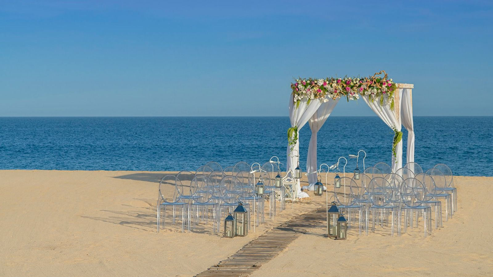 Sheraton Grand Los Cabos - Beach Ceremony Set up