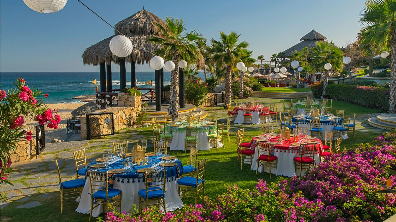 Sheraton Grand Los Cabos - Palapa Banquet Set up