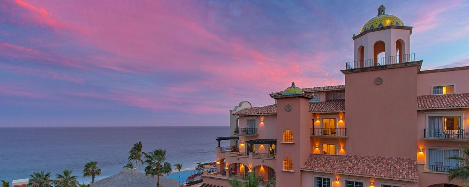 Sheraton Hacienda del Mar- Main Building Sunset